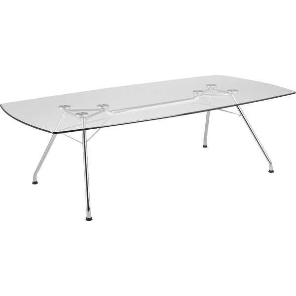 Curved end 29H x 47.25W x 94.5L Conference Table by OFM