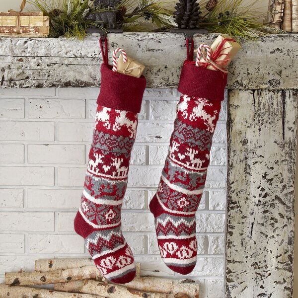Reindeer Classic Knit Stocking by Birch Lane™