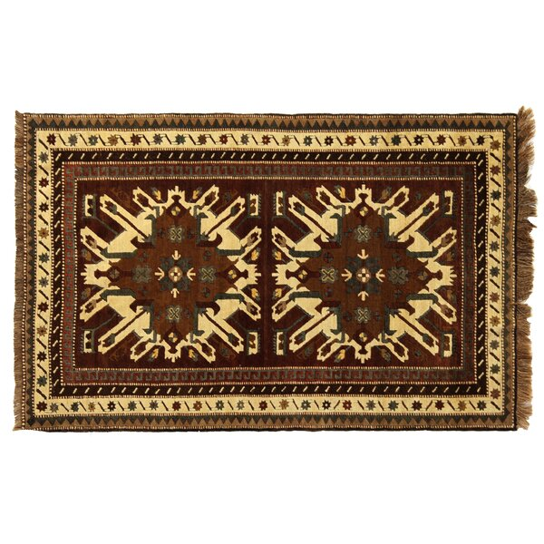 One-of-a-Kind Turkish Fine Kars Hand-Woven Wool Brown/Beige Area Rug by Exquisite Rugs