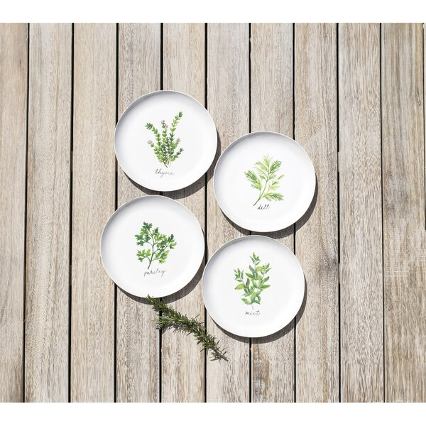 Lodd Herbs 4 Piece Melamine Salad Plate Set by Gracie Oaks