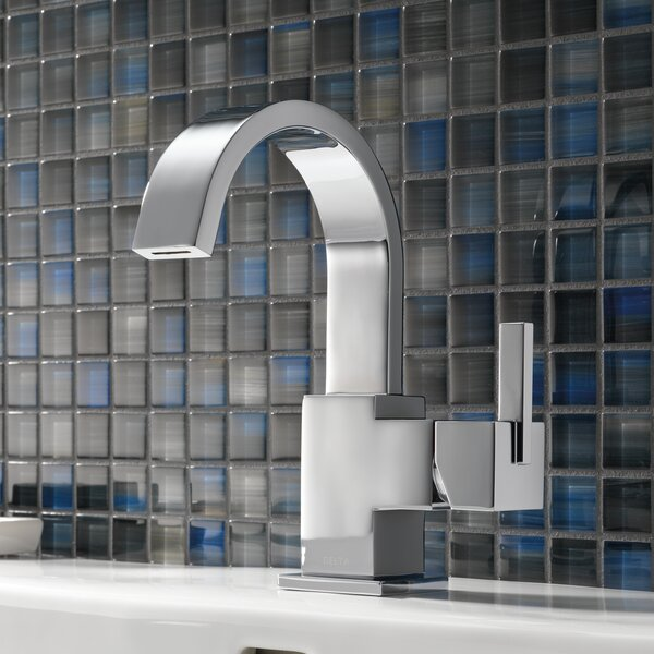 Vero Single Hole Bathroom Faucet with Metal Pop Up Drain by Delta