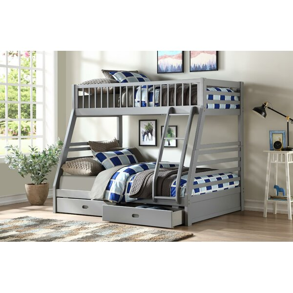 Wadermere Twin Over Full Bunk Bed with Trundle and 2 Drawers by Harriet Bee