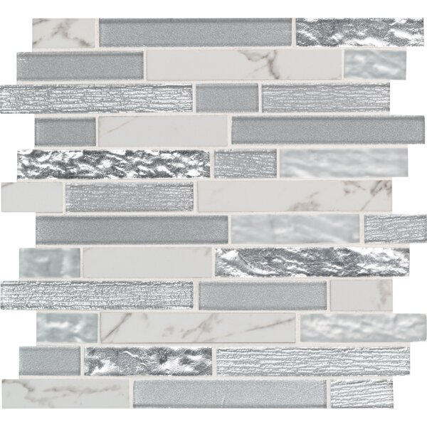 Whistler Ice Random Sized Glass/Porcelain Mosaic Tile in Gray by MSI