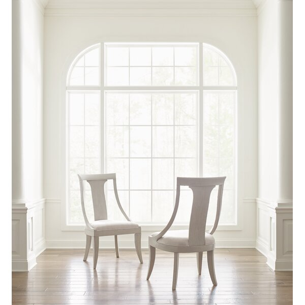 Cinema Upholstered Slat Back Side Chair in Light Gray (Set of 2) by Rachael Ray Home Rachael Ray Home