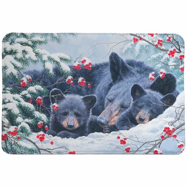 Oakpark Cold Cozy Bears Rectangle Non-Slip Bath Rug