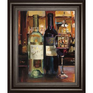 'A Reflection of Wine 2' Framed Painting Print by Fleur De Lis Living