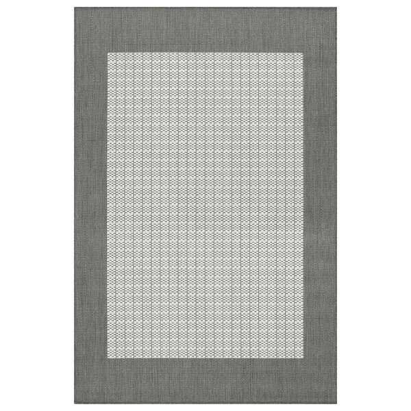 Westlund Checkered Field Beige Indoor/Outdoor Area Rug by Charlton Home