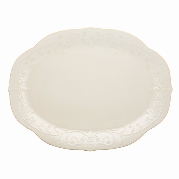 French Perle Oval Platter by Lenox