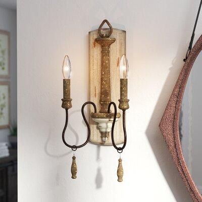 Armande 2-Light Candle Wall Light Lark Manor