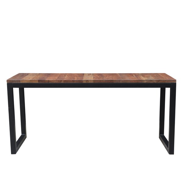 Bar Height Solid Wood Dining Table by 17 Stories 17 Stories
