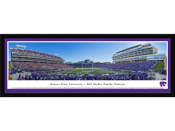 NCAA Kansas State University - Football 50 Yd by James Blakeway Framed Photographic Print by Blakeway Worldwide Panoramas, Inc