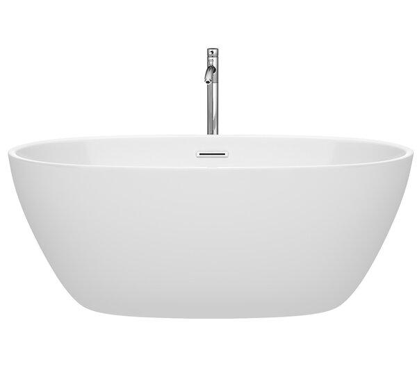 Juno 59 x 32 Freestanding Soaking Bathtub by Wyndham Collection