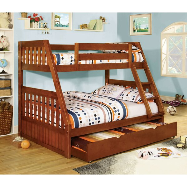 Carrie Twin Over Full Triple Bunk Bed by A&J Homes Studio