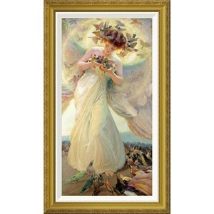 'The Angel of The Birds' by Franz Dvorak Framed Painting Print by Global Gallery