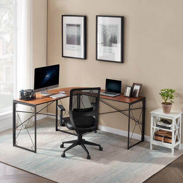 Reversible L-Shape Writing Gaming Desk and Chair Set