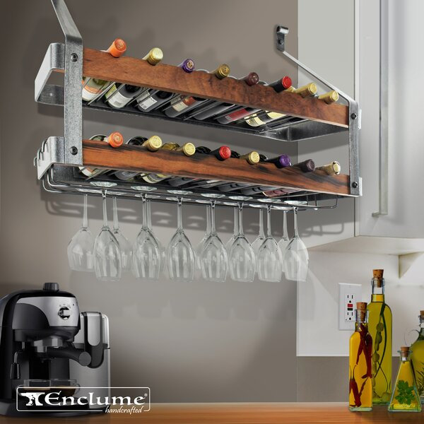 Signature Double 16 Bottle Wall Mounted Wine Rack by Enclume
