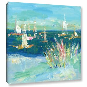 Just the Sea I Painting Print on Wrapped Canvas by Breakwater Bay
