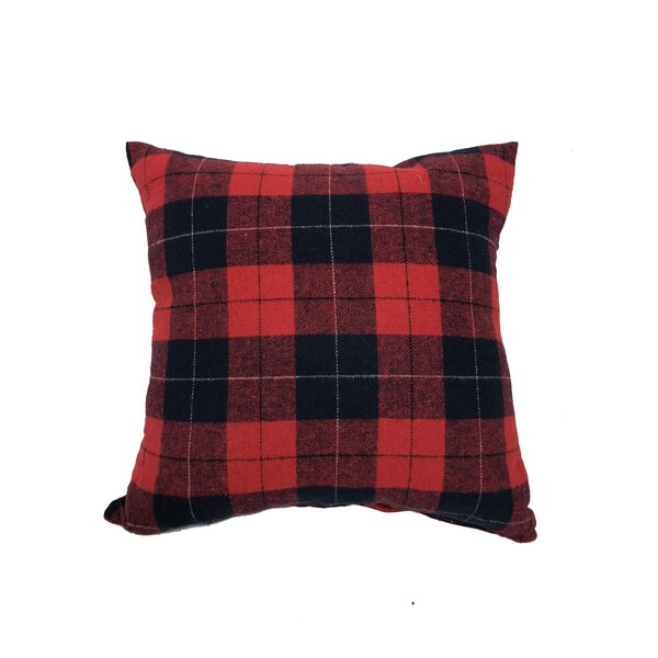 Villagomez Tartan Throw Pillow by Millwood Pines