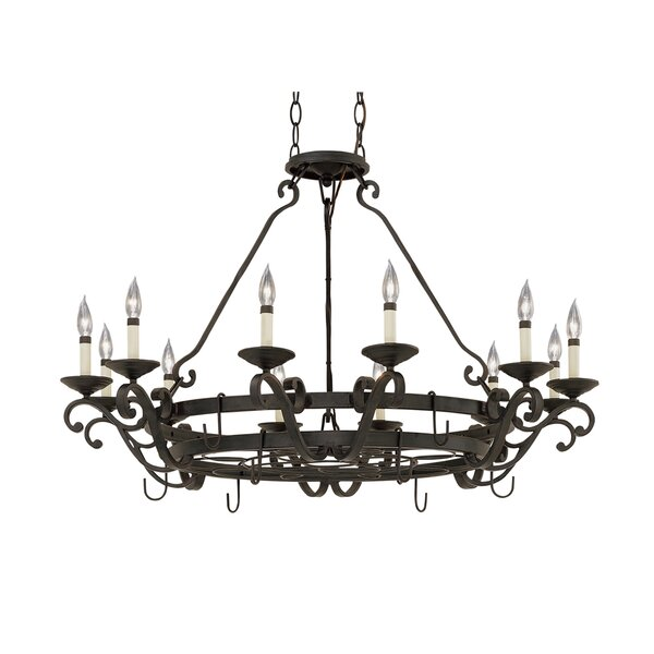 Trevelon 12 Light Chandelier Pot Rack by Gracie Oaks