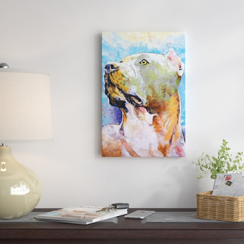 'Pit Bull' Graphic Art on Canvas