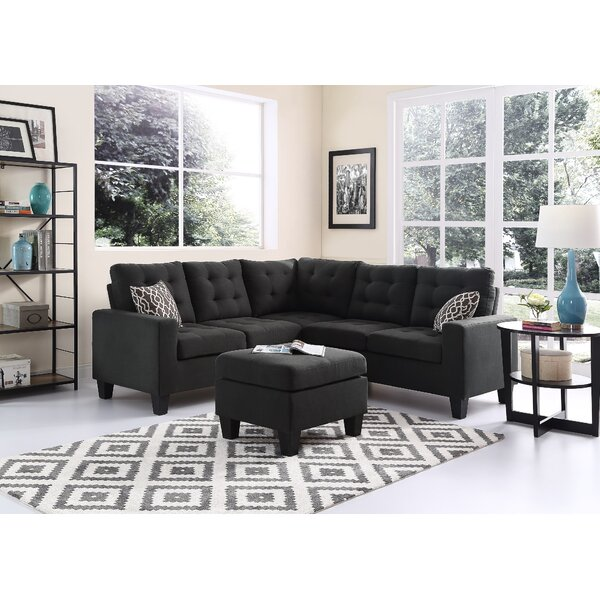 Griesinger Sectional with Ottoman by Red Barrel Studio