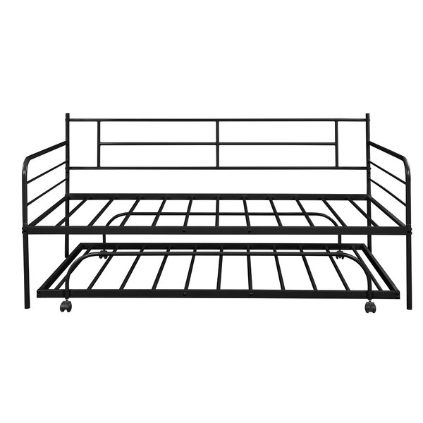 Twin Metal Daybed With Trundle By Red Barrel Studio