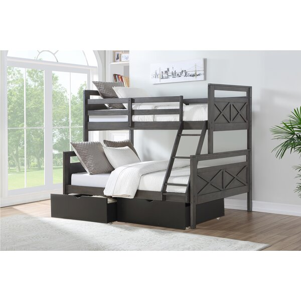 Colwell Barn Twin Over Full Bunk Bed with Drawers by Harriet Bee