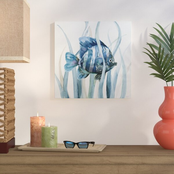 Fish In Seagrass I Oil Painting Print On Wrapped Canvas By Bay Isle Home.