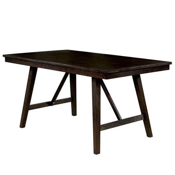 Cael Counter Height Solid Wood Walnut Dining Table By Gracie Oaks