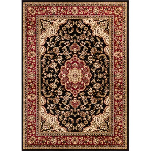 Belliere Medallion Black Area Rug by Astoria Grand