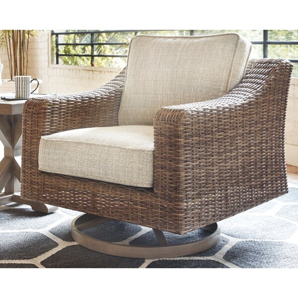 Gilchrist Swivel Patio Chair with Cushions by Rosecliff Heights