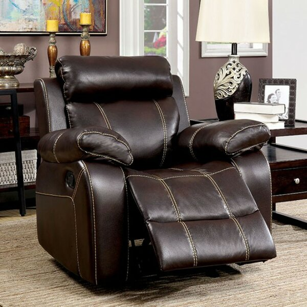 Yizheng Manual Recliner with Contrast Stitching [Red Barrel Studio]