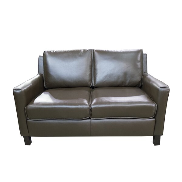 Sereno Standard Leather Loveseat by Loon Peak