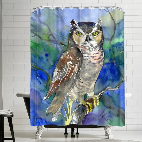 Suren Nersisyan Horned Owl Shower Curtain by East Urban Home