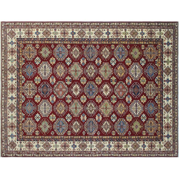 One-of-a-Kind Ashmore Kazak Hand-Knotted Red Area Rug by Isabelline