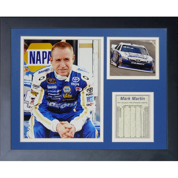 Mark Martin Framed Memorabilia by Legends Never Die