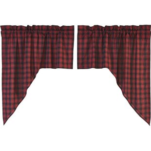 Dorval Lined Swag Kitchen Curtain (Set Of 2)