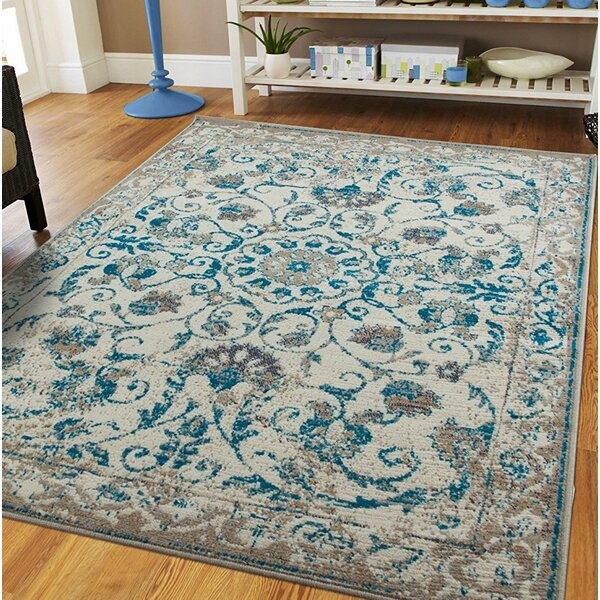 Rehberg Distressed Gray Indoor/Outdoor Area Rug by Charlton Home