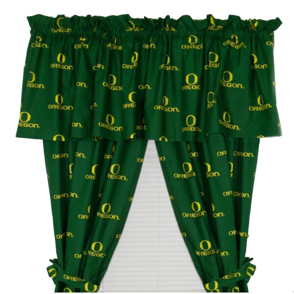 NCAA Oregon Rod Pocket Curtain Panel (Set of 2) by College Covers