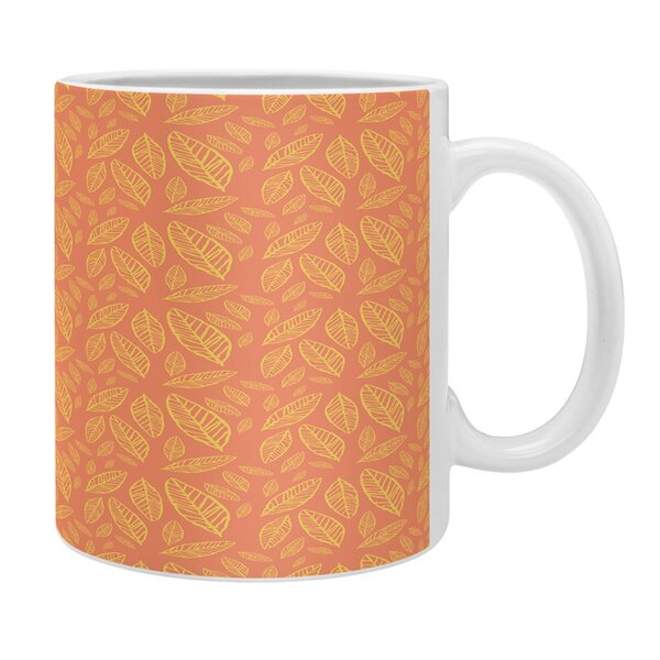 Fall Leaves Pattern Coffee Mug by East Urban Home
