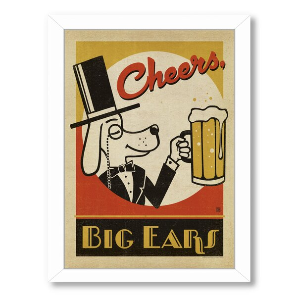 Cheers Big Ears Framed Vintage Advertisement by East Urban Home
