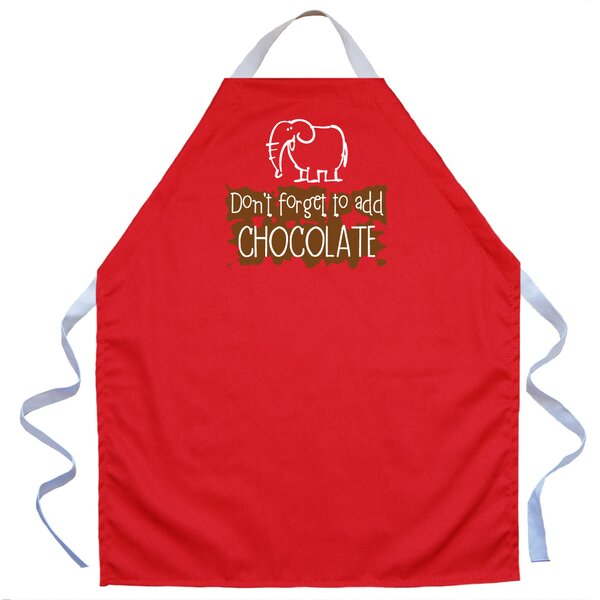Add Chocolate Apron in Red by Attitude Aprons by L.A. Imprints
