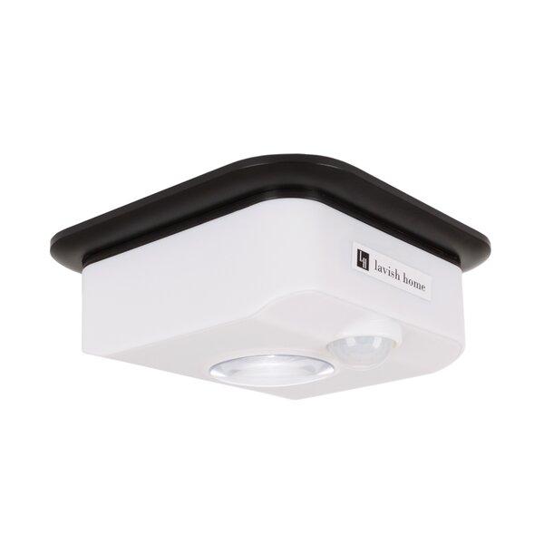 Motion Sensor 1-Light LED Flush Mount by Symple St