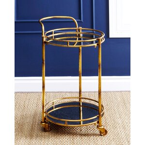 Herald 2 Tier Cylinder Bar Cart by Willa Arlo Interiors
