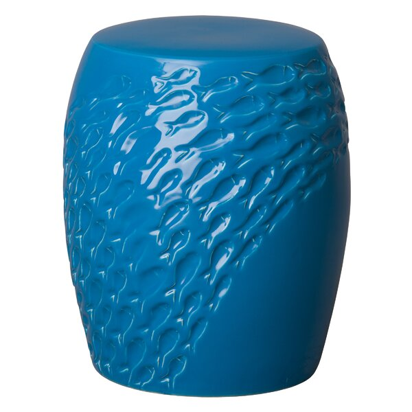 Diamondville Fish Garden Stool by Highland Dunes