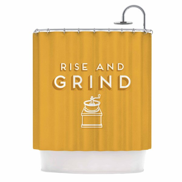 Busy Bree Rise and Grind Illustration Shower Curtain by East Urban Home