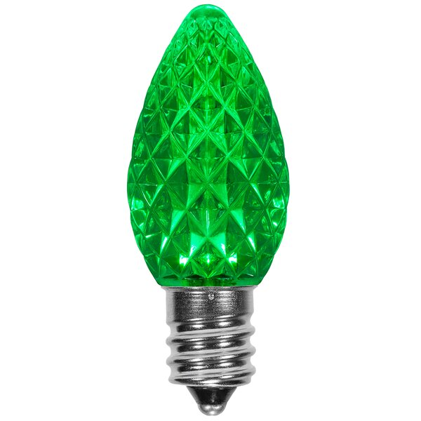 120W Green E12/Candelabra LED Light Bulb (Set of 25) by Wintergreen Lighting