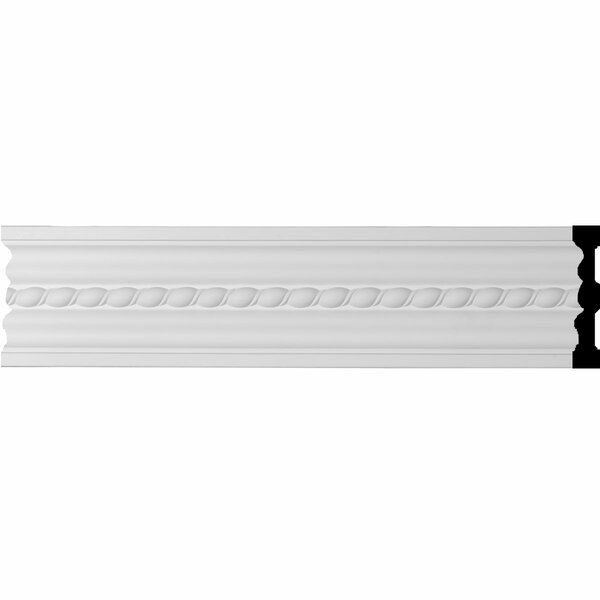 Orleans Rope 5H x 96W x 7/8D Chair Rail or Casing Moulding by Ekena Millwork