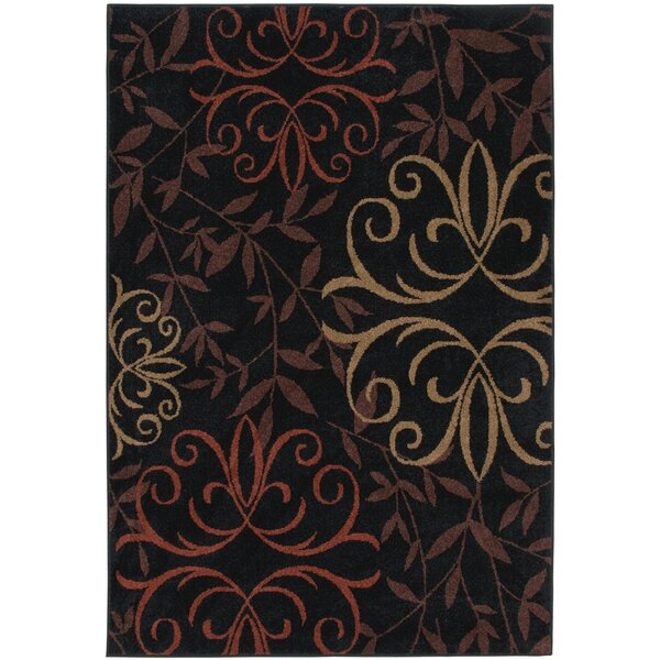 Olivia Black Indoor/Outdoor Area Rug by Threadbind