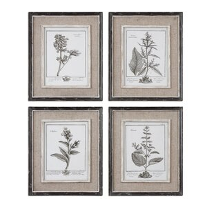 Ladouceur 4 Piece Framed Graphic Art Set by One Allium Way